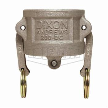 Dixon 300-TCA-SS Stainless Steel 316 Cam and Groove Hose Fitting Tank Car Adapter 5 Railroad Thread x 3 Plug